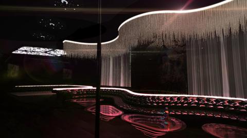 karaoke night club led soft light effect CG動画素材