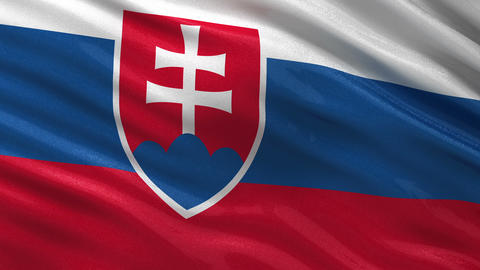 Flag of Slovakia seamless loop Animation