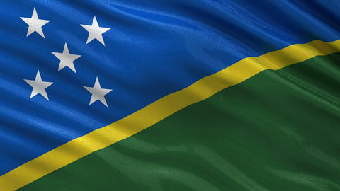 Flag of the Solomon Islands seamless loop Animation