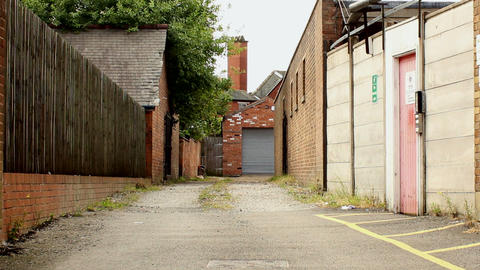 Empty city alley Stock Video Footage