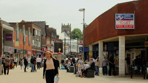 Shopping Centre. Centre of Erdington in Birmingham Footage