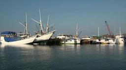 Leaving Labuan Bajo Harbor stock footage