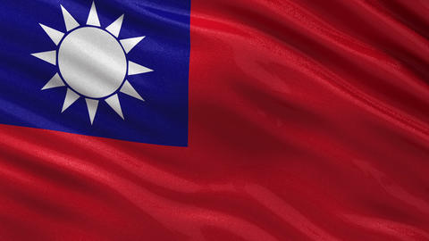 Flag of Taiwan seamless loop Animation