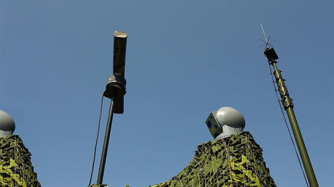 electronic warfare Military radar rotates Loop rea ビデオ