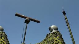 electronic warfare Military radar rotates Loop rea Stock Video Footage