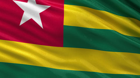 Flag of Togo seamless loop Animation