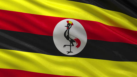 Flag of Uganda seamless loop Animation