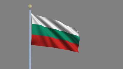 Flag of Bulgaria Animation