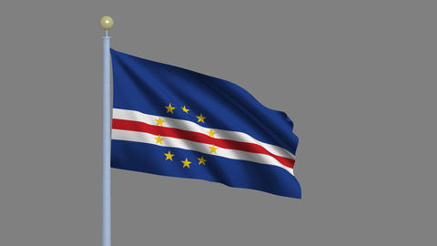 Flag of Cape Verde Animation