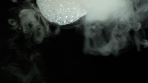 Bursting bubbles with a smoke Stock Video Footage