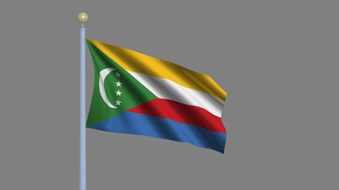 Flag of the Comoro Islands Animation