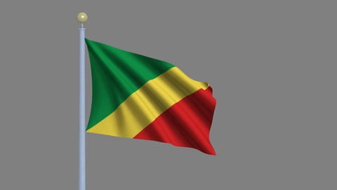 Flag of the Republic of the Congo Animation