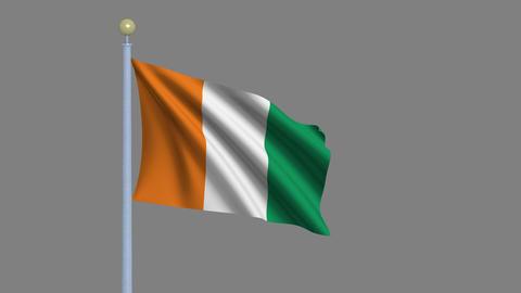 Flag of Côte d'Ivoire Animation
