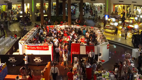 Book Fair Timelapse stock footage