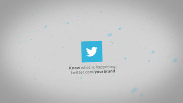 Social Media Fly Animation Intro stock footage