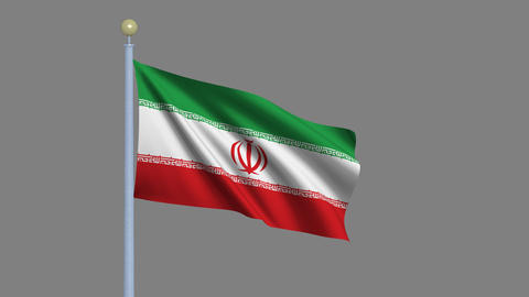 Flag of Iran Stock Video Footage
