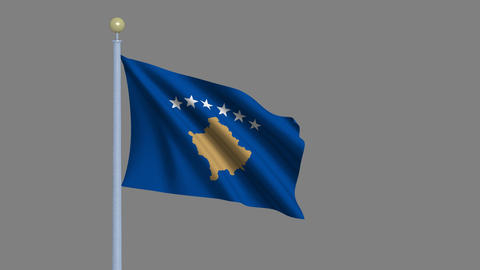 Flag of Kosovo Animation