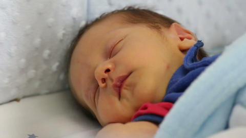 beautiful sleeping baby Stock Video Footage