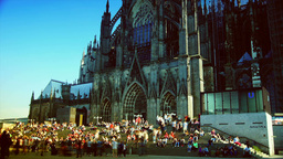 The north side of Cologne Cathedral in Cologne, Ge Stock Video Footage