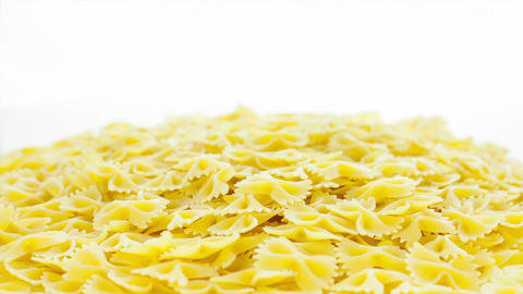 Pasta On The Table stock footage