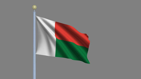 Flag of Madagascar Animation