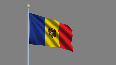Flag of Moldova Animation