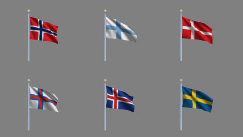 Flags Set 03 Animation