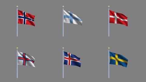 Flags Set 03 Animation