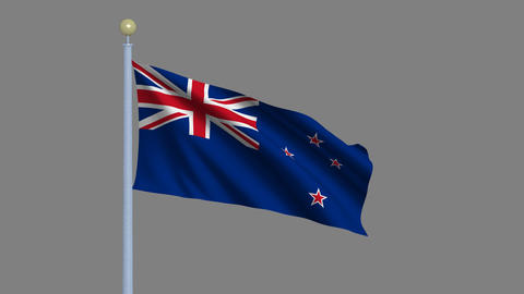 Flag of New Zealand Animation