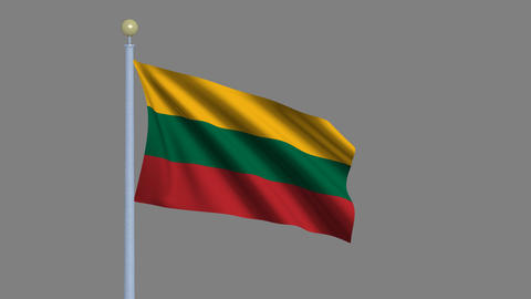 Flag of Lithuania Animation