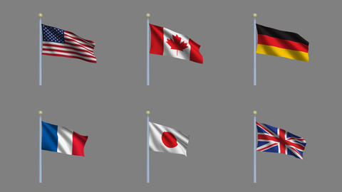 Flags Set 1 Animation