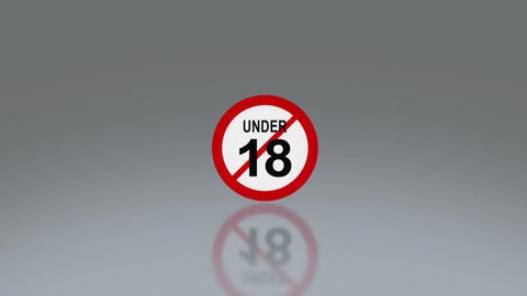 adult sign under 18 sign Stock Video Footage