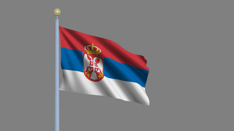 Flag of Serbia Animation