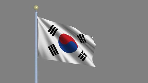 Flag of South Korea Animation