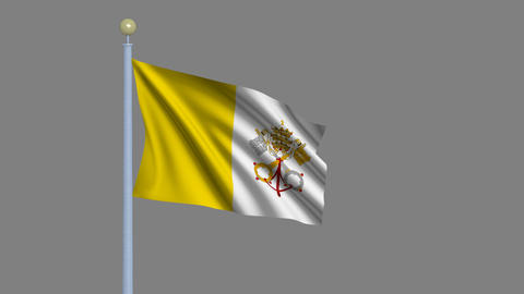 Flag of Vatican City Stock Video Footage