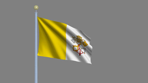 Flag of Vatican City Animation