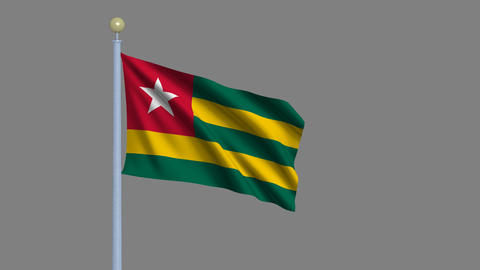 Flag of Togo Animation