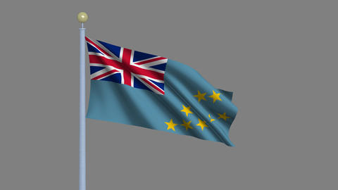 Flag of Tuvalu Stock Video Footage