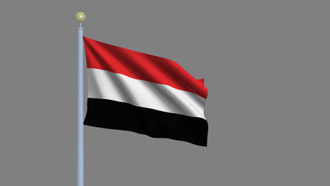 Flag of Yemen Animation