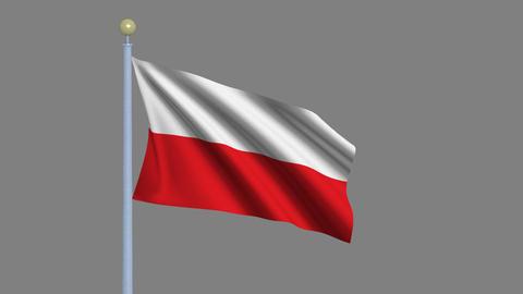Flag of Poland Animation