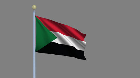 Flag of Sudan Animation