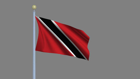 Flag of Trinidad and Tobago seamless loop Animation
