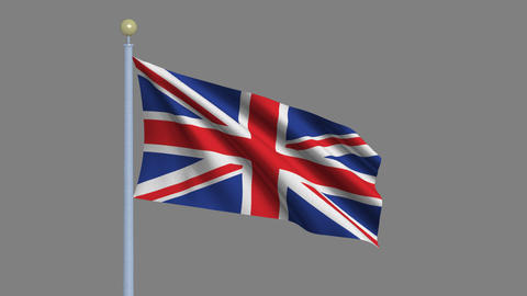 Flag of the United Kingdom of Great Britain and Northern Animation