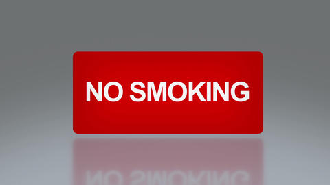 No smoking rectangle signage Animation