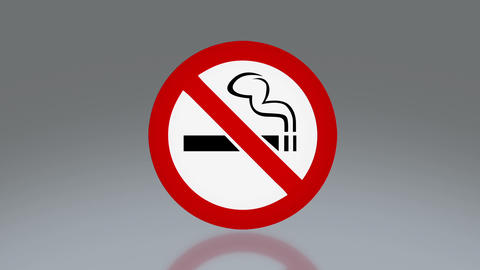 No smoking signage Animation