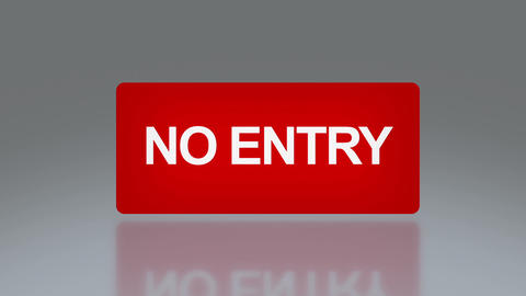 rectangle signage of NO entry font Stock Video Footage