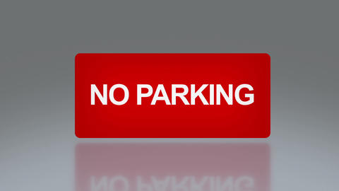 rectangle signage of NO parking Animation