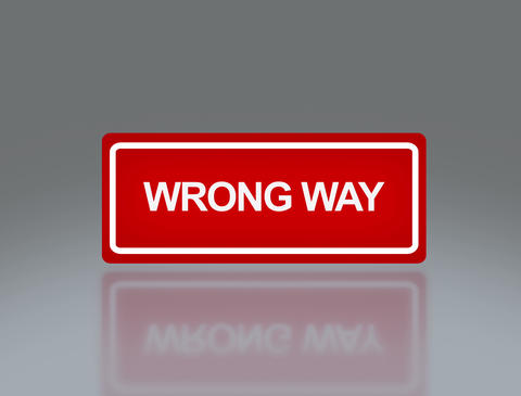 Rectangle Signage Of Wrong Way 4 K stock footage