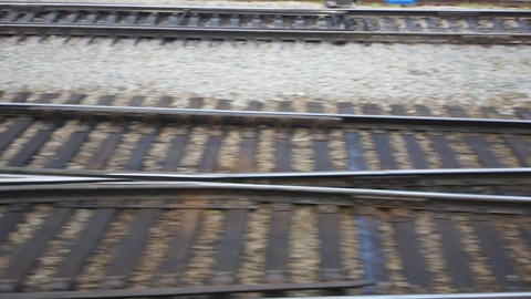 Rails in motion Footage