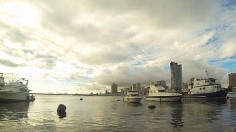 Manila bay timelapse Stock Video Footage